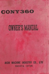Cony Owners Manual FC 1